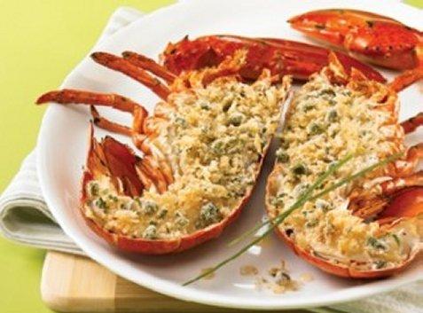 Recettes qu b homard grill et chapelure au - Recette homard grille ...