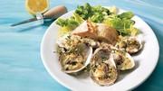Huîtres à la crème et au thym, gratinées au parmesan