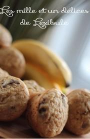 Muffins santé aux bananes et aux dattes