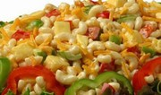Salade de macaronis à l'ananas et à l'abricot