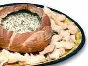 Miche farcie aux épinards et au fromage emmental
