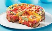 Gâteau à la crème glacée arc-en-ciel
