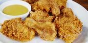 Poules de Cornouailles croustillantes, sauce miel et moutarde