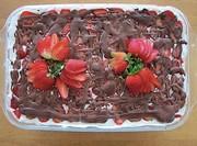Gâteau Fraise Glacière (sans cuisson)