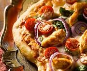 Pizza au poulet au beurre