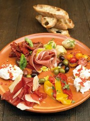 Assiette d'antipasti Italienne