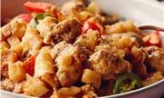 Galettes de pommes de terre fiesta au poulet haché