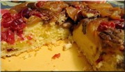 Gâteau renversé aux poire, canneberges et pacanes