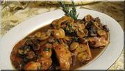 Poulet au Marsala et porcini