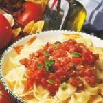 Boucles à la tomate