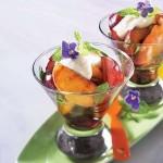 Fruits grillés à la crème de mascarpone
