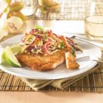 Escalopes de dindon croustillantes Panko avec Salade de chou Asiatique