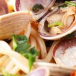 Palourdes et udon de quinoa de Janella