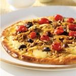 Pizza grillée aux oignons doux