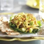 Salade de poulet aux abricots et cari