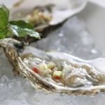 Huîtres au gingembre et à la coriandre