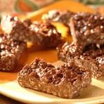 Barres granola au chocolat