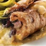 Escalopes de veau farcies au prosciutto, au Brie triple crème et canneberges