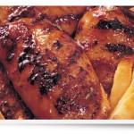 Hauts de cuisse de poulet, miel et vinaigre BBQ