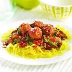 Courge spaghetti aux boulettes de viande
