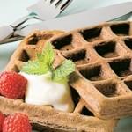 Dessert de gaufres au chocolat