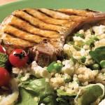 Quinoa aux légumes verts, à la menthe et à la féta
