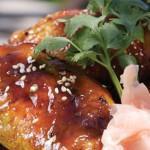 Cuisses de poulet glacées à la sauce soya et au wasabi Napoléon