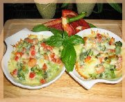 Accompagnement de légumes gratinés