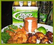 Ailes de poulet de Louis et crevettes Buffalo Super Bowl