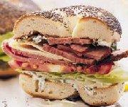Bagels à la dinde et au bacon
