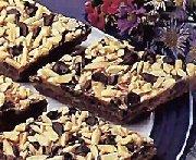 Barres au caramel et aux grains de chocolat