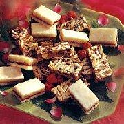 Barres caramélisées aux grains de chocolat