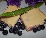 Barres de gâteau au fromage et aux bleuets
