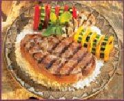 Bifteck d'agneau mariné au vin rouge