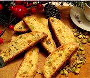 Biscotti à la pistaches et oranges confites