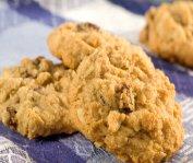 Biscuits à l'avoine, cannelle et raisins secs