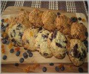 Biscuits au gruau, deux saveurs.  Pastilles de chocolat Barry & aux deux raisins secs