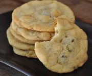 Biscuits au sucre, chocolat blanc et pistaches