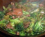 Boeuf au gingembre et brocoli