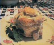 Bouchées express aux champignons et au jambon