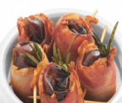 Bouchées de dattes et bacon