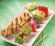 Brochettes de légumes grillées à la lime