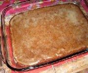 Brownies à la compote de pomme et à l'orange glacés à l'orange