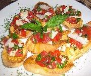 Bruschetta de tomates fraîches