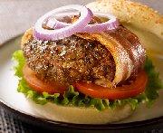 Burgers au boeuf et au bacon