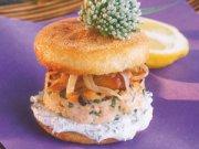 Burgers de saumon aux crevettes de Matane