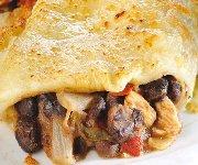 Burritos au poulet et aux haricots noirs