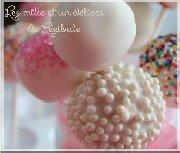 Cakes pops aux cerises