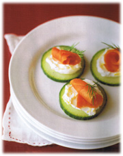 Canap s liste des recettes recettes qu becoises for Canape saumon fume