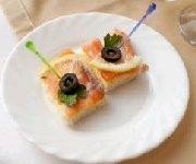 Canapés au saumon fumé 2